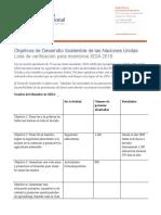 ODS para informe anual