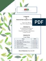 Financial ratio analysis of aamra