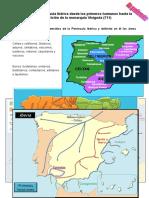 Estándar 5 - Dibuja un mapa esquemático de la Península Ibérica y delimita en él las áreas ibérica y celta