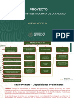 Estructura del proyecto de Ley de Infraestructura de la calidad