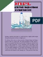 understanding the profit margin of mineral water plantatas