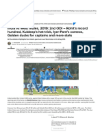 India vs West Indies, 2019_ 2nd ODI – Rohit's record hundred, Kuldeep's hat-trick, Iyer-Pant's cameos, Golden ducks for captains and more stats