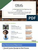 ASUG83760 - SAP Invoice Management by OpenText for SAP S4HANA.pdf