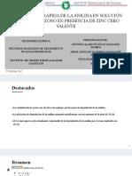 PATAR. Degradacion de analina con ozono catalizado por Zn