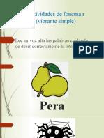 actividades fonema r simple