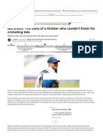 MS Dhoni_ The story of a finisher who couldn't finish his cricketing tale