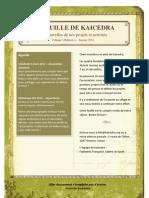 Feuille de Kaicedra - Janvier 2011