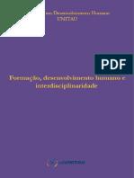 Formação Desenvolvimento e Interdisciplinaridade