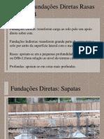 AULA 2B - FUNDAÇÕES DIRETAS RASAS
