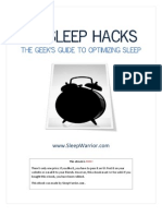Sleep Warrior Sleep Hacks