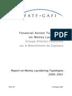 Report on money Laundering Typologies 2000-2001