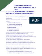 Preguntas guía Examen MME Enero 2011