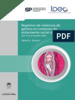 3º Informe de Registros de Violencia de Género en contexto de aislamiento