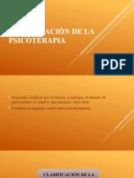 CLASIFICACIÓN DE LA PSICOTERAPIA