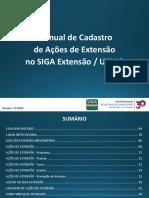 Manual de Cadastro de Ações de Extensão No SIGA Extensão (Docentes)