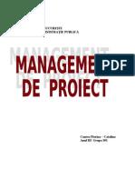 Proiect Management Nunta