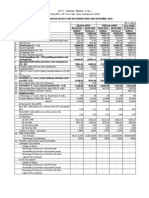 Sep 2010-Audited Results