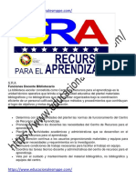 Funciones y perfil del Cargo del personal del CRA - S.R.A