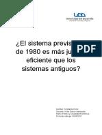 Ensayo Reforma Previsional de 1980