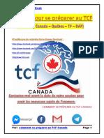 Le Guide pour se préparer au TCF ( TCF Canada - TCF Quebec - TCF DAP - TCF TP )