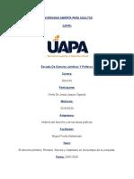 ONELY JAQUEZ - TAREA I HISTORIA DEL DERECHO Y DE LAS IDEAS POLITICAS.docx