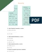 Propiedades de la suma y la multiplicación