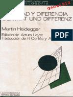 HEIDEGGER, MARTIN - Identidad y Diferencia