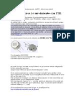 Construcción de sensor de movimiento con PIR