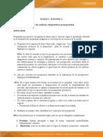 Actividad 1 – Apoyo a temáticas Taller de análisis diagnostico presupuestal