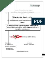 [MEF] Le Centre Régional d'Invest. au service d'attractiv. territn Région Souss Massa
