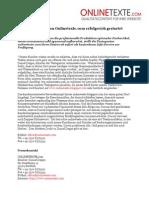 Pressemeldung 2011-01 - Neues Info-Blog von Onlinetexte.com erfolgreich gestartet