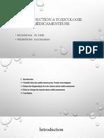 introduction à la toxicologie médicamenteuse