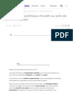 Planifiez une politique d'audit au sein de votre entreprise - OpenClassrooms