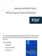 APA Formatting and Style Guide_Reference and In-text Citation