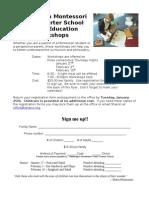 2010-11 Parent Education Workshops Flyer