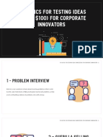 10 tactics for testing ideas for corporate innovators