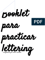 Booklet para practicar lettering