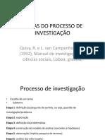 etapas de investigação 1,2,3