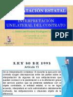 Interpretacion Unilateral del Contrato Estatal Colombia