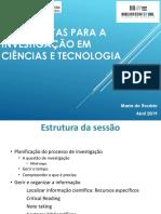 Ferramentas para a Investigação em Ciências e Tecnologia