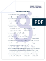 BINOMIAL THEOREM. Practice Sums with Key.pdf