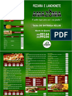 CARDAPIO PIZZARIA AMAZÔNIA