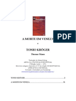 Thomas Mann a Morte Em Veneza e Tonio Kroeger