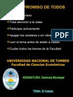 1 El Estado - Gerencia Municipal  2020-I.ppt