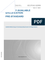 IECPAS 62559-2008-1 - IntelliGrid Methodology for Developing Requirements for Energy Systems