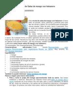 Receta de Salsa de mango con habanero