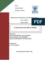 401904865 Projet Financement Des PME Au Maroc PDF