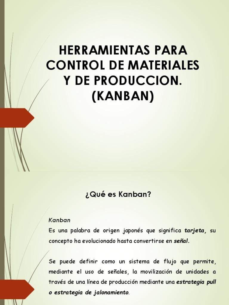 Presentacion Control De Inventarios Kanban Inventario Gestion De La Cadena De Suministro