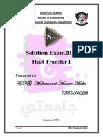 Solution Examination 2019 of Heat transverse I.pdf