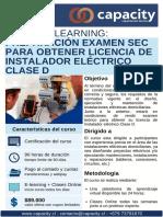 BROCHURE - INSTALADOR ELECTRICO CLASE D